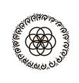 feminine symbol flower of vector image vector image