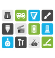 Flat Different kind of art icons vector image