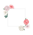 floral frame with roses and tulips vector image vector image