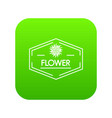 flower shop icon green vector image vector image