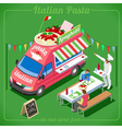 Food Truck 04 Vehicle Isometric vector image vector image
