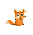 Fox With Stars Before Eyes vector image vector image