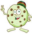 fun character cookie with marijuana flavor vector image vector image