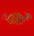 golden chinese dragon vector image vector image