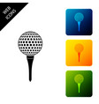 golf ball on tee icon isolated set icons colorful vector image vector image