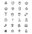 Halloween Line Icons 2 vector image vector image