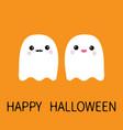 happy halloween ghost spirit family couple vector image