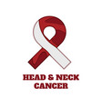 head and neck cancer awareness papercut ribbon vector image vector image