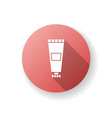 lotion tube red flat design long shadow glyph icon vector image