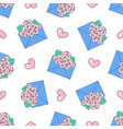 love letter valentines day seamless pattern vector image