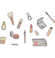 Makeup set vector image