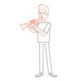 man playing trump character vector image vector image