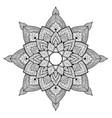 mandala for coloring background flower shape vector image vector image