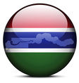 Map on flag button of Republic of The Gambia vector image vector image