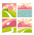 nature landscape flat icons templates vector image vector image