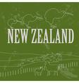 New Zealand landmarks Retro styled image vector image vector image