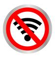 No signal sign vector image vector image