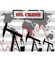 Oil crisis graph vector image vector image
