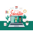 online education e-learning online course concept vector image