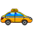 pixel taxi car detailed isolated vector image vector image