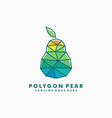 polygon pear concept designs template vector image vector image