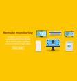 remote monitoring banner horizontal concept vector image