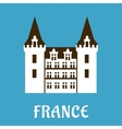 Renaissance castle with turrets France vector image vector image