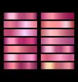 rose gold foil texture gradients vector image