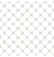 seamless pattern with circles white and beige vector image vector image