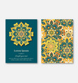set of cards flyers brochures mandala vector image