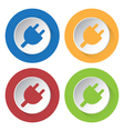 set of four icons - electrical plug symbol vector image vector image