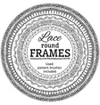 set of lace round frames vector image vector image