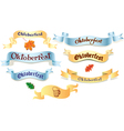 Set of ribbons Oktoberfest vector image vector image