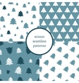 Set of simple retro Christmas patterns Winter vector image vector image