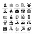 shopping icons set 9 vector image