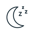 simple icon in line art style with half moon vector image vector image