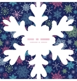 snowflakes on night sky Christmas snowflake vector image