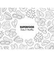 superfood banner template nuts and seeds tasty vector image vector image