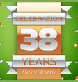 thirty eight years anniversary celebration design vector image vector image