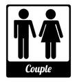toilet label design vector image vector image