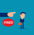 unemployment crisis and job reduction dismissed vector image vector image
