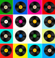Vinyl Set Retro Colorful LP Disc Vinyl Record vector image vector image