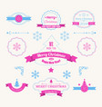 winter holidays greeting labels set vector image vector image