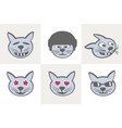 different cat grimaces vector image