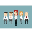 Business team of office clerks with boss vector image