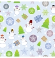 Seamless background Vintage Merry Christmas Card vector image