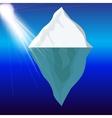 Cold Iceberg in Ocean Under Sun Shine vector image