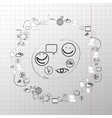 Doodle design set concept for cooperation vector image