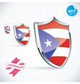 I Love Puerto Rico Flag vector image