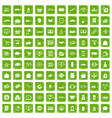 100 shopping icons set grunge green vector image vector image